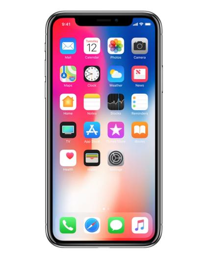 Pantalla de inicio del iPhone X iOS 11