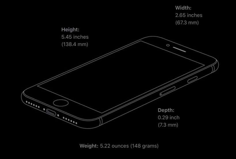 Peso de la segunda generación del iPhone SE