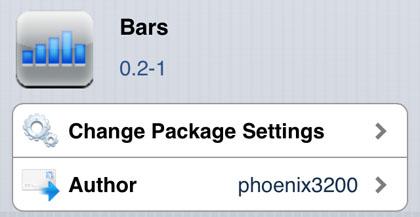 Las barras ajustan Cydia iOS