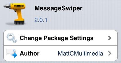 MessageSwiper retoca Cydia iOS