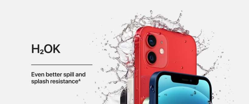 iPhone 12 mini resistente al agua
