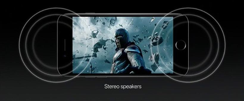 Altavoces estéreo iPhone 7