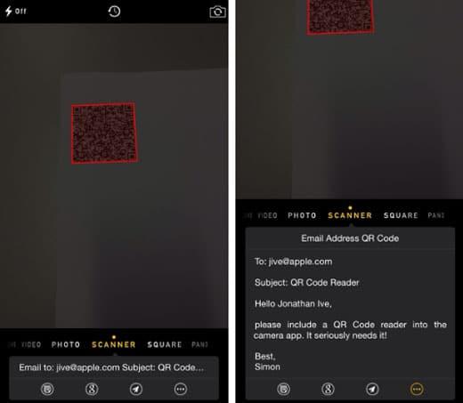 Código QR iOS 8