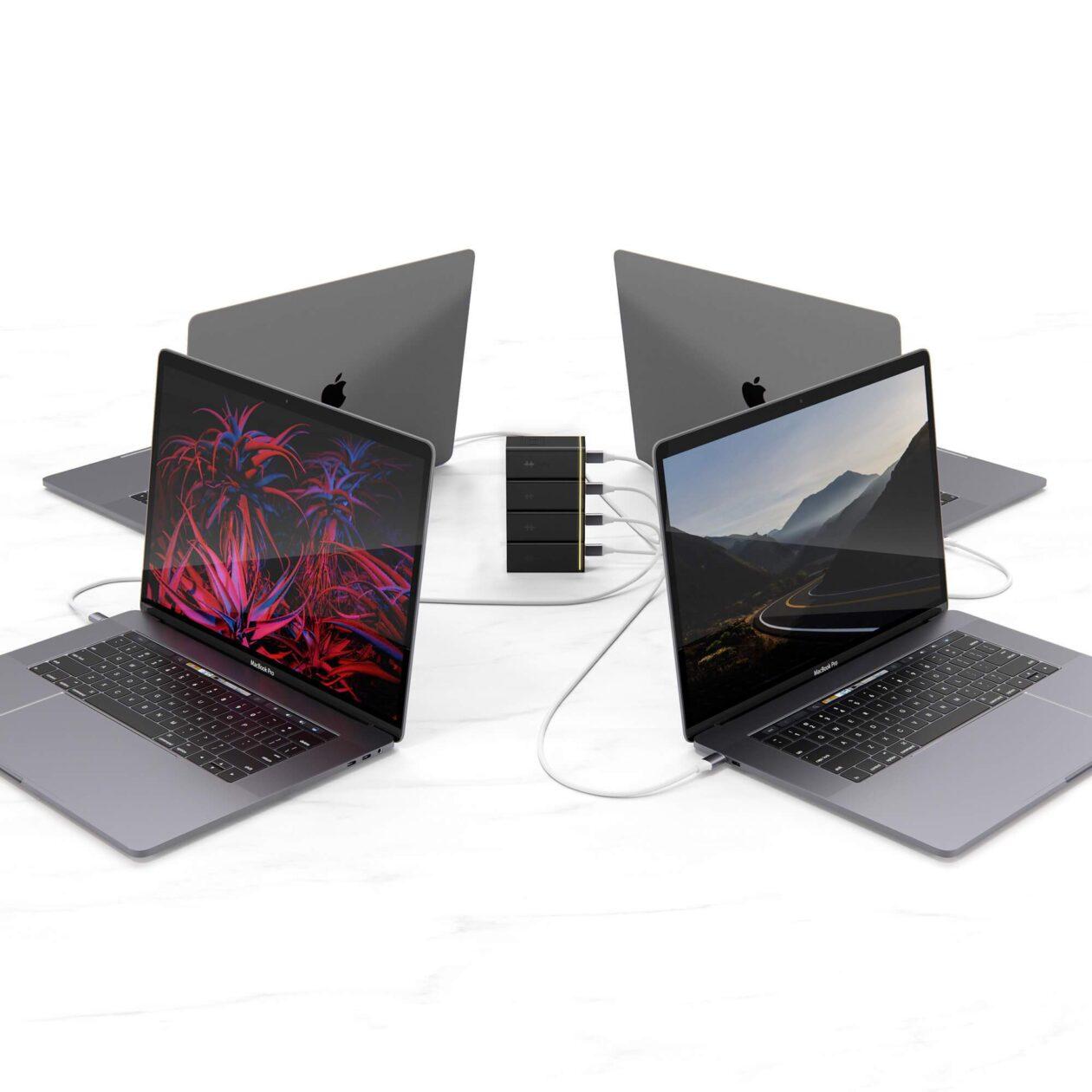 Cargador GaN apilable HyperJuice con Mac