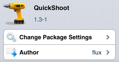 QuickShoot modifica Cydia iOS