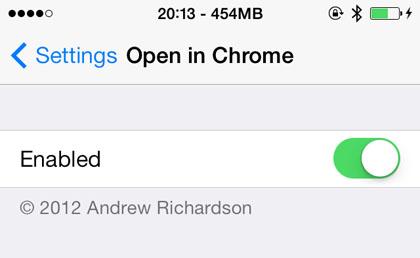 Navegador Chrome iOS 7
