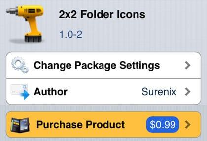 Iconos de carpetas 2x2 que hacen jailbreak a iOS