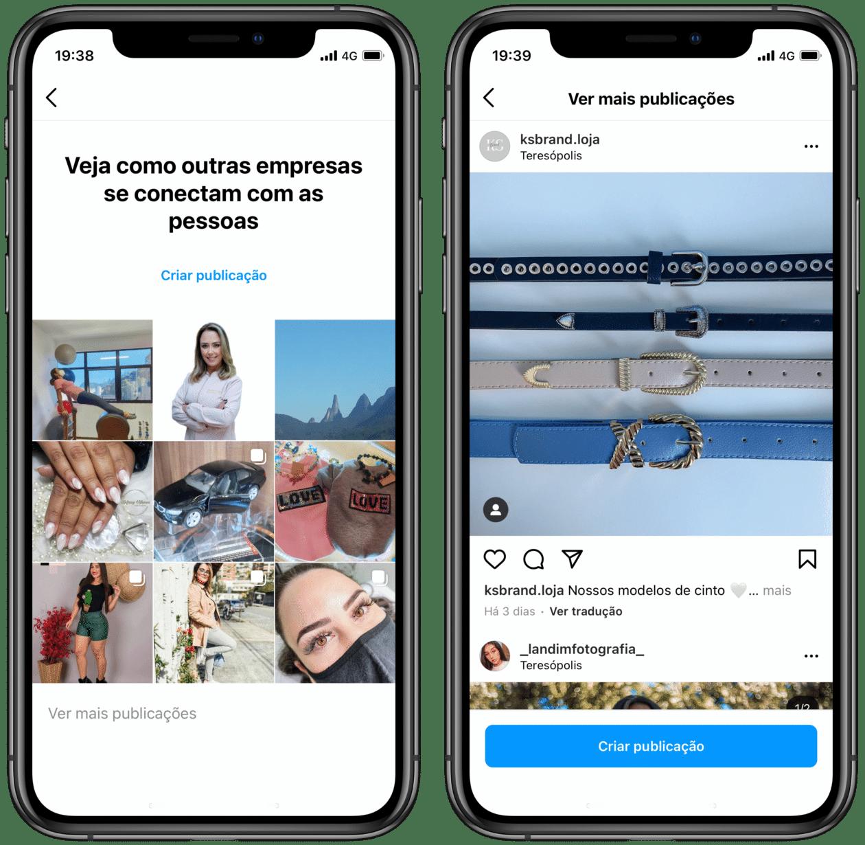 Sugerencias de empresas de Instagram