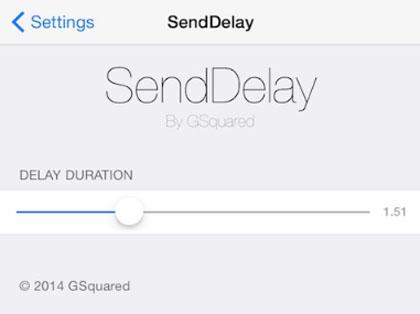 iOS 8.1 jailbreak SendDelay para el envío