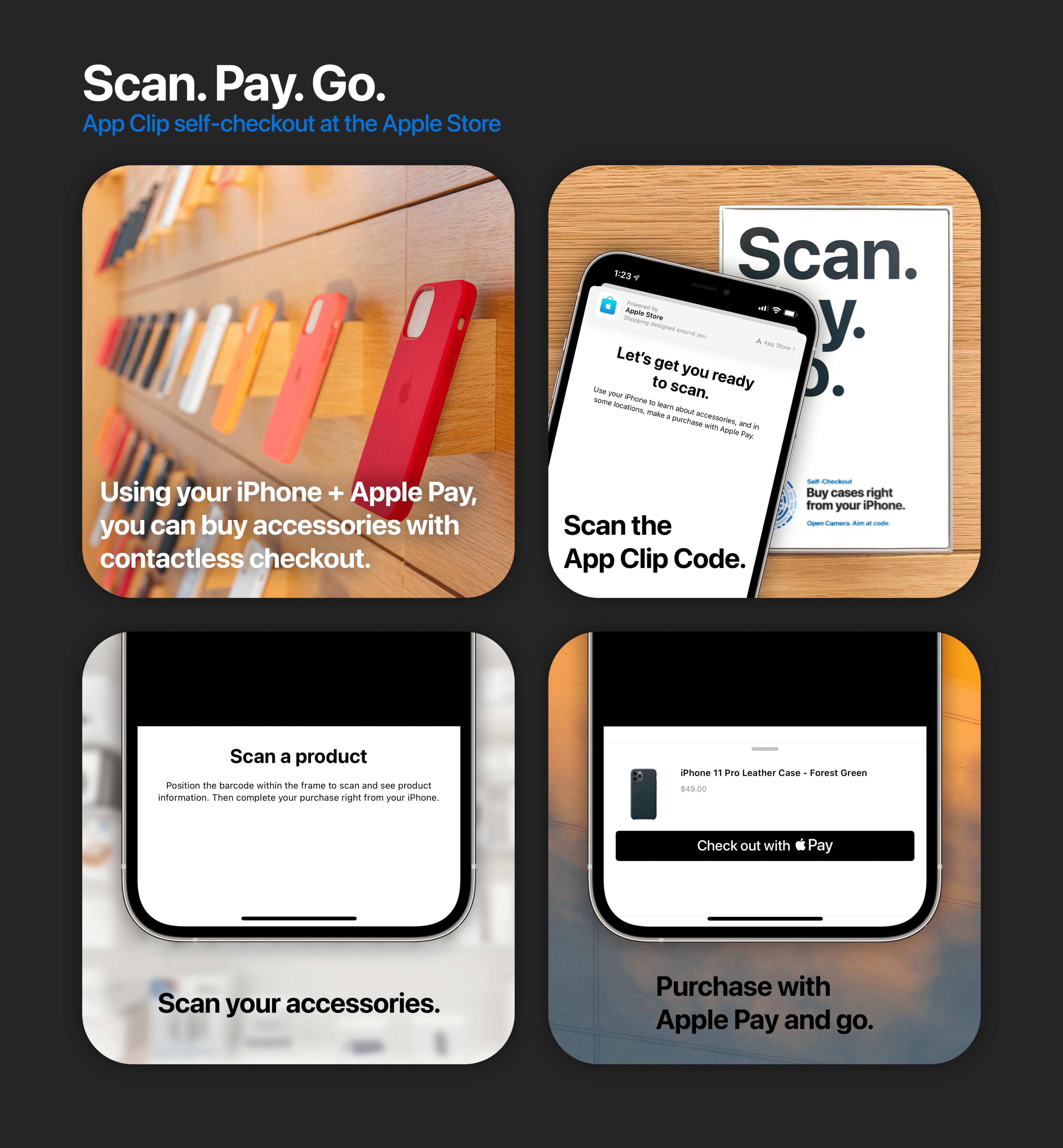 Clip de la aplicación Apple Store en iPhone