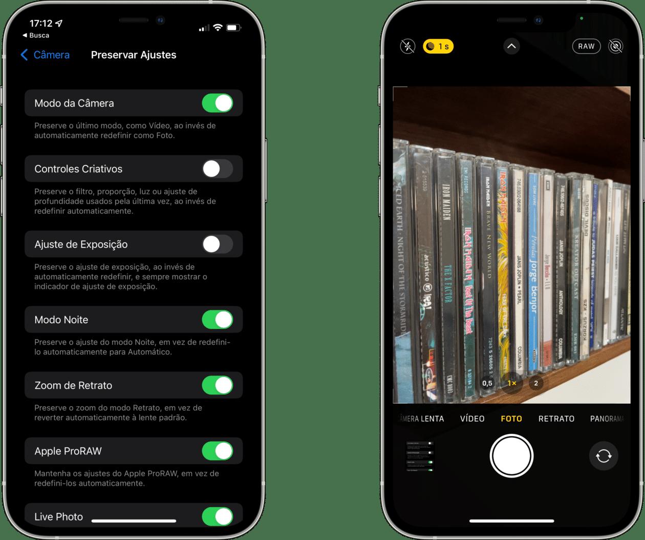 Ajustes relacionados con el modo nocturno en iOS 15