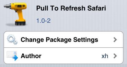 tire para actualizar el iPhone Safari