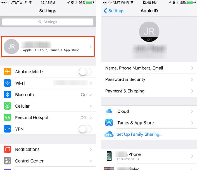Editar rápidamente el identificador de Apple y la información asociada a iOS 10.3.