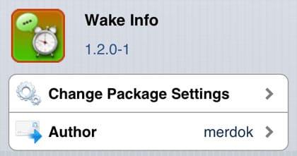Wake Info retoca Cydia iOS