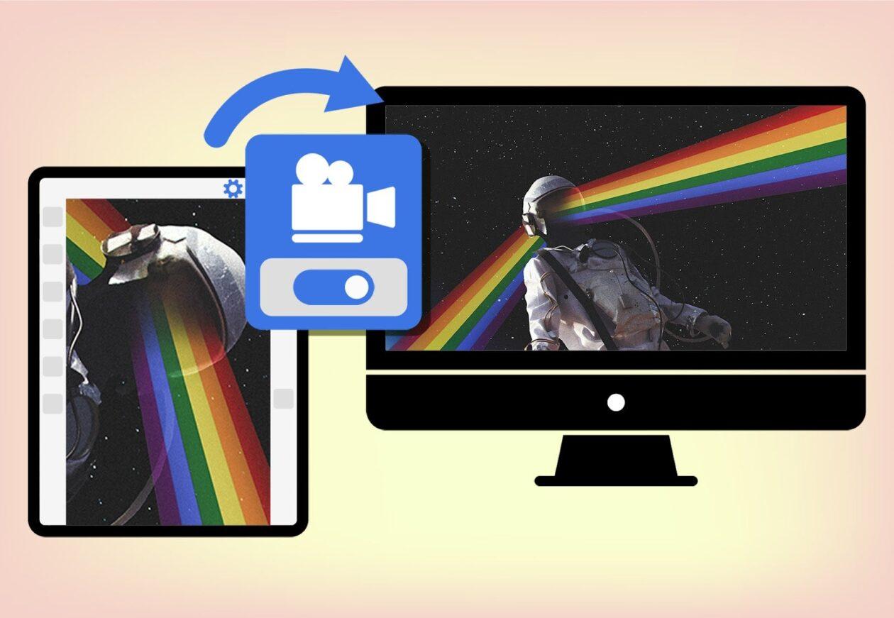 Proyección de lienzo de Photoshop para iPad