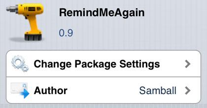 RemindMeAgain vuelve a modificar Cydia iOS