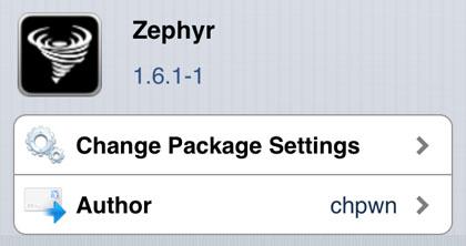 Zephyr hace gestos multitarea en el iPhone