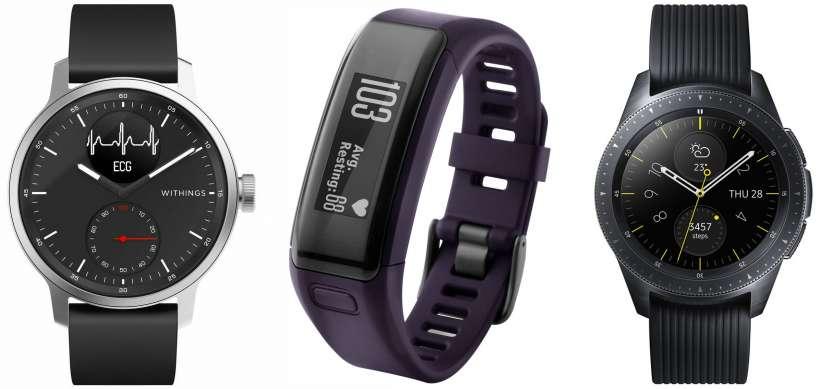 Rastreadores de fitness y relojes inteligentes