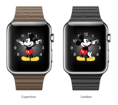 Apple Watch de segunda mano (el pie de Mickey en este caso) estará sincronizado en todo el mundo.