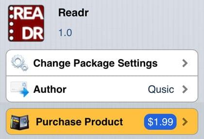 Readr retoca Cydia iOS