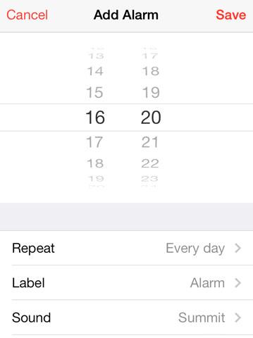 iOS 7 en alarma silenciosa