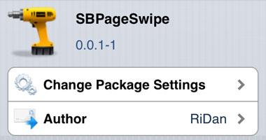 SBPageSwipe ajustar Cydia iOS