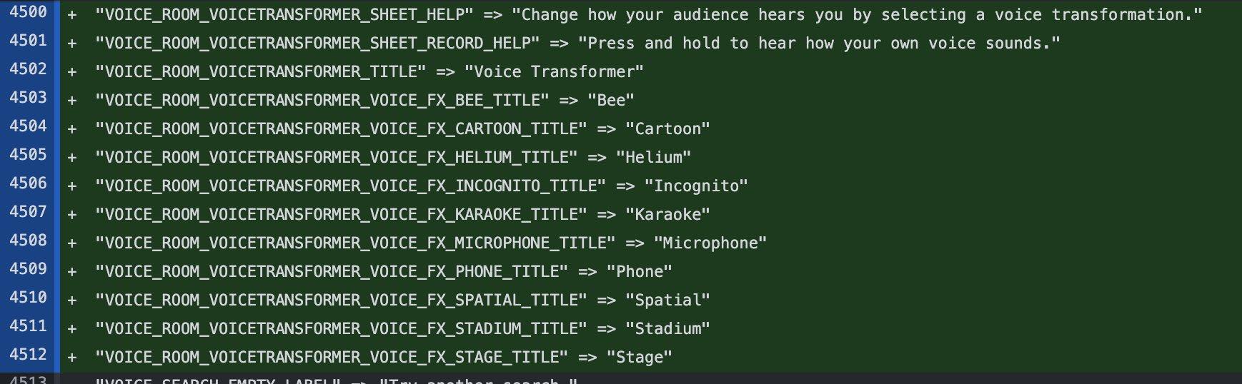 Efectos de transformador de voz