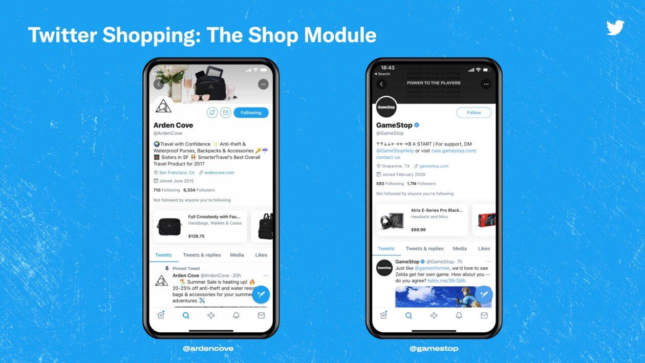 Módulo de tienda de Twitter