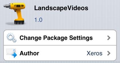 LandscapeVideos retoca Cydia iOS