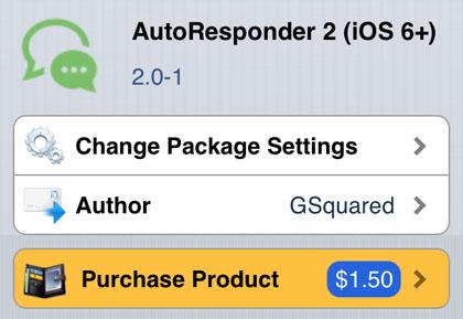 Autoresponder 2 jailbreak ajusta iOS